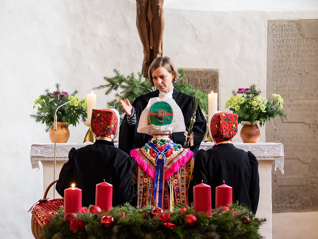 Einsegnung des Schleifer Christkindes am 1. Advent 27. November 2016