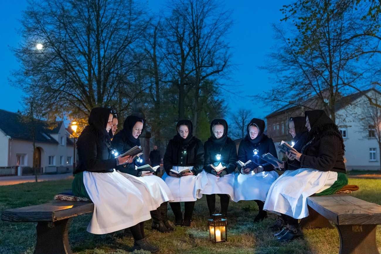 Ostersingen am 21.04.2019 in Schleife - Foto: Evangelischer Pressedienst epd