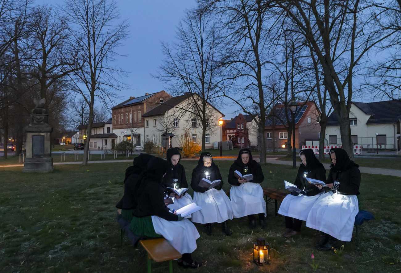 Ostersingen am 12.04.2020 in Schleife - Foto: M. Rietschel