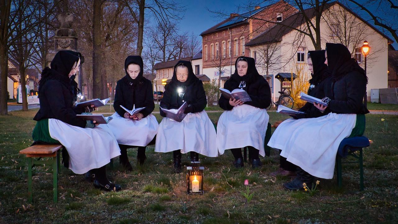 Ostersingen am 12.04.2020 in Schleife - Foto: G. Schön
